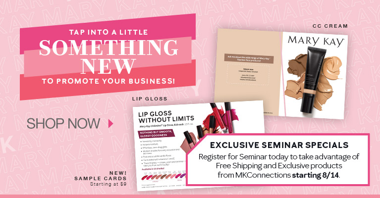 Tap into a little something new to promote your business! New Sample Cards - Shop Now