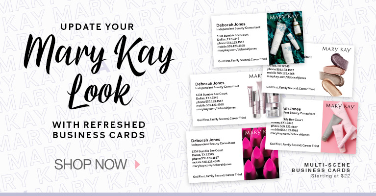 Update your Mary Kay Look with refreshed Business Cards - Shop Now