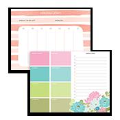 Blocs de notas con calendario