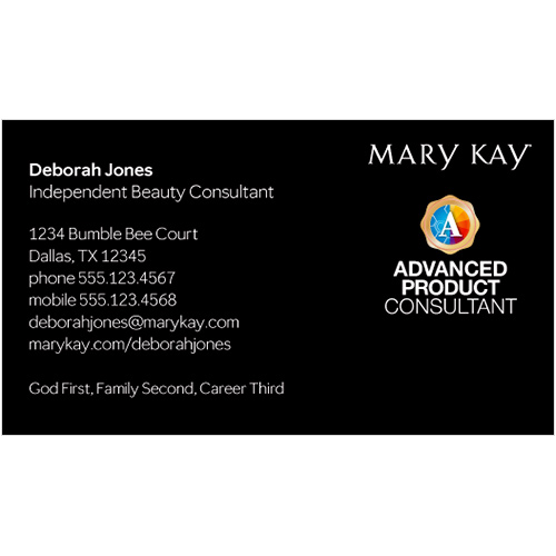 Advanced Product Consultant Business Card, Black