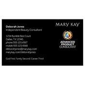 Tarjeta de presentación para consultora, Advanced Product, negra