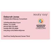 Tarjeta de presentación para consultora, Advanced Product, rosada