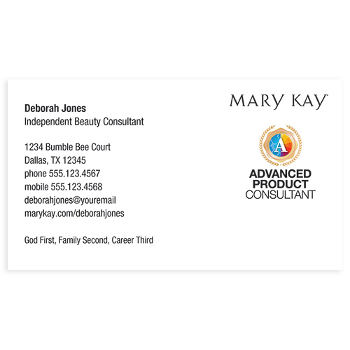 Advanced Product Consultant Business Card, White