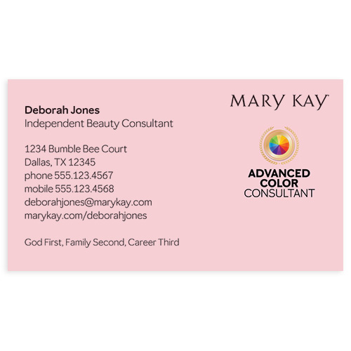Advanced Color Consultant Business Card, Pink