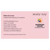 Tarjeta de presentación para consultora, Advanced Color, rosada