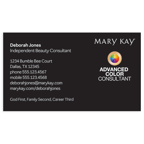 Advanced Color Consultant Business Card, Black