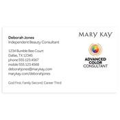 Tarjeta de presentación para consultora, Advanced Color, blanca