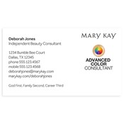Advanced Color Consultant Business Card, White