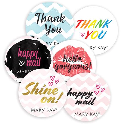 Coloridos sellos para embalaje con saludos