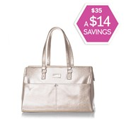 Champagne Metallic Party Tote