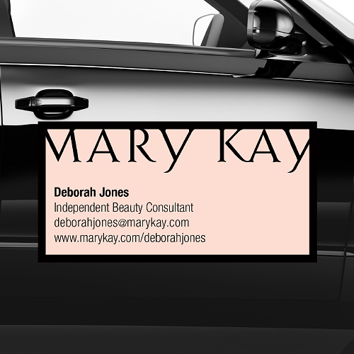 Pink car magnet mary kay connections for 12 x 24 car door magnets