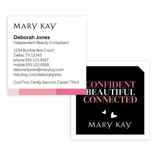 Tarjetas de presentación Confident, cuadradas