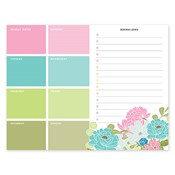 Bloc de notas con calendario Country Chic Bouquet