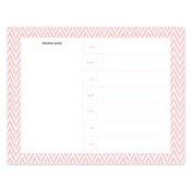 Bloc de notas con calendario Distressed Chevron, coral
