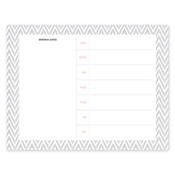 Bloc de notas con calendario Distressed Chevron, gris