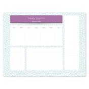 Bloc de notas con calendario Dottie Blue