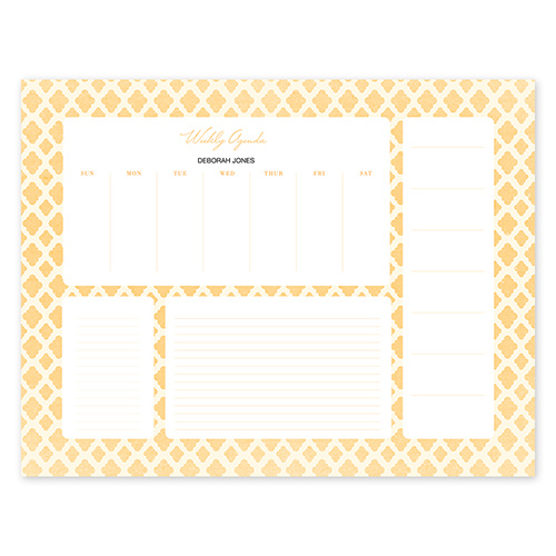 Perfect Pattern Gold Calendar Notepad
