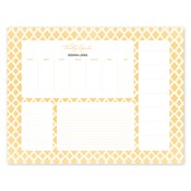 Bloc de notas con calendario Perfect Pattern, dorado