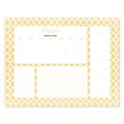 Bloc de notas con calendario Perfect Pattern, dorado
