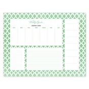 Bloc de notas con calendario Perfect Pattern, verde