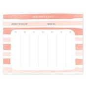Bloc de notas con calendario Painted Stripes, anaranjado