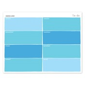 Bloc de notas con calendario Color Swatch, azul