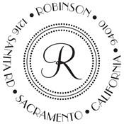Sello personalizado Robinson
