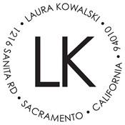 Sello personalizado con monograma Laura