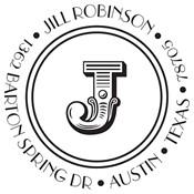 Sello personalizado con monograma Jill