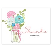 Country Chic Bouquet Aqua Folded Notes