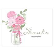 Tarjetas de notas rosadas Country Chic Bouquet