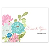 Country Petals Aqua Folded Notes