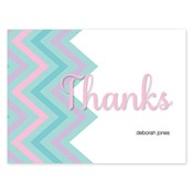 Chevron Splash Aqua Folded Notes