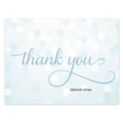Confetti Chic Blue Folded Notes