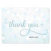 Tarjetas de notas Confetti Chic, azul
