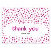 Tarjetas de notas Confetti Dots, rosado