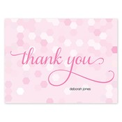 Tarjetas de notas Confetti Chic, rosado