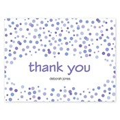 Confetti Dots Purple Folded Notes