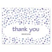 Tarjetas de notas Confetti Dots, púrpura