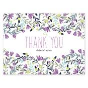 Tarjetas de notas Colorful Garden, púrpura