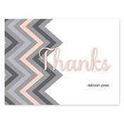Chevron Splash Grey Folded Notes