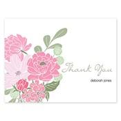 Tarjetas de notas rosadas Country Petals