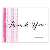 Tarjetas de notas Painted Stripes, rosado