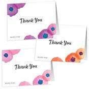 Notas de agradecimiento florales - No personalizadas