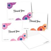 Notas de agradecimiento florales - Personalizadas