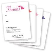 Gafetes adhesivos de agradecimiento con corazones para regalo