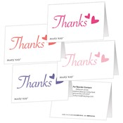 Thank You Hearts Folded Gift Tags