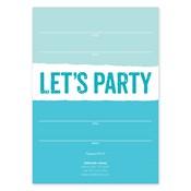 Invitaciones en blanco Bold Stripe, azul