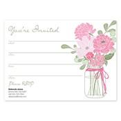 Invitaciones en blanco Country Chic Bouquet, rosado