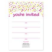 Invitaciones en blanco Confetti Dots, verde